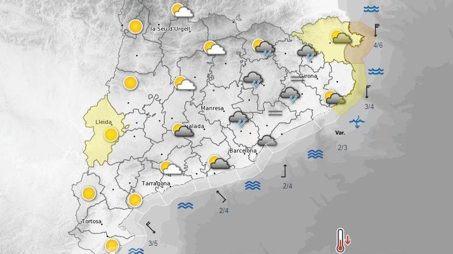 La pluja s'instal·larà a Catalunya aquesta tarda