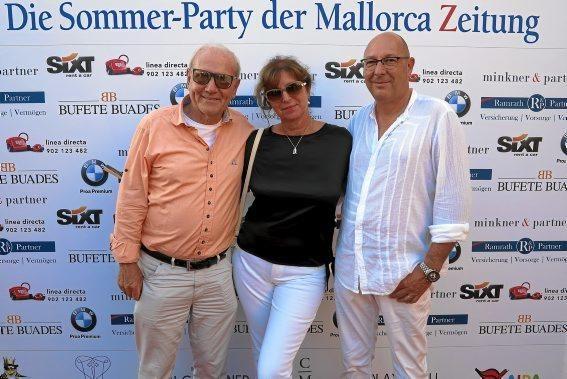 Klaus und Monika Heinemann sowie Jürgen Holzinger