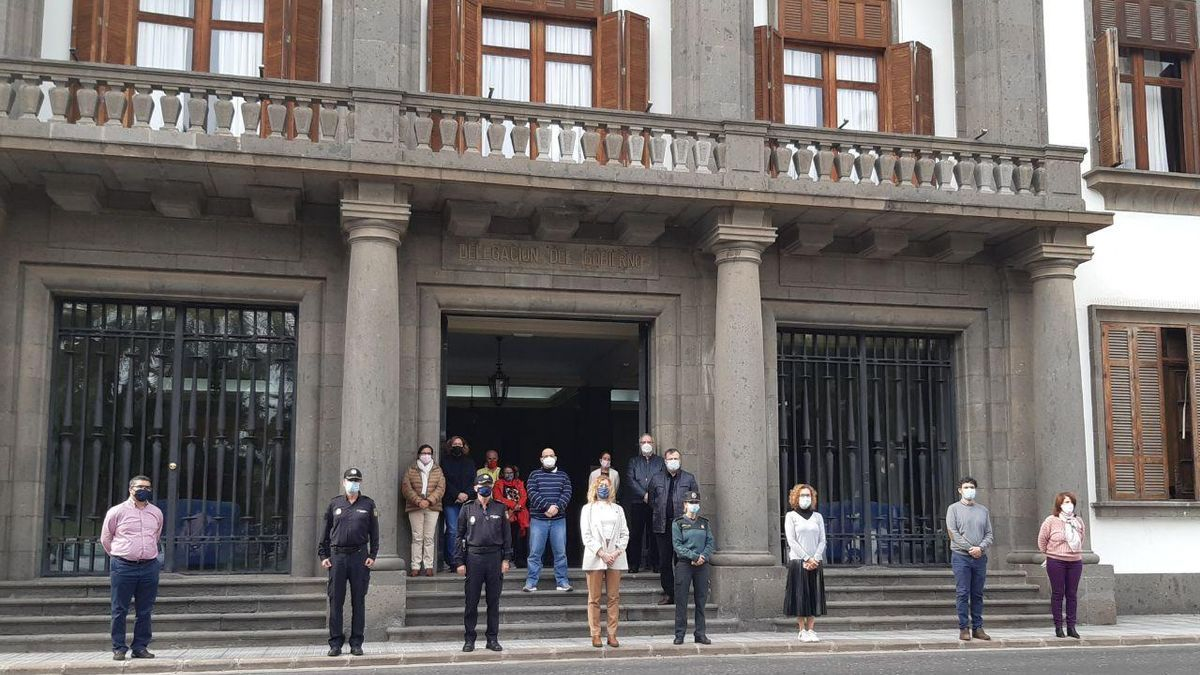 Minute of silence in the Government Delegation for the sexist crime of Gáldar.