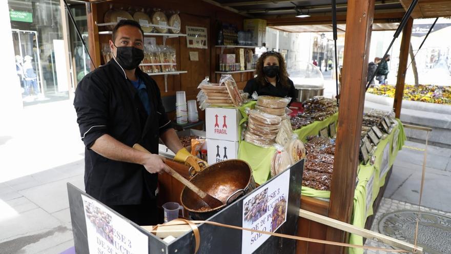 Las garrapiñadas traen a Zamora el olor de la Semana Santa