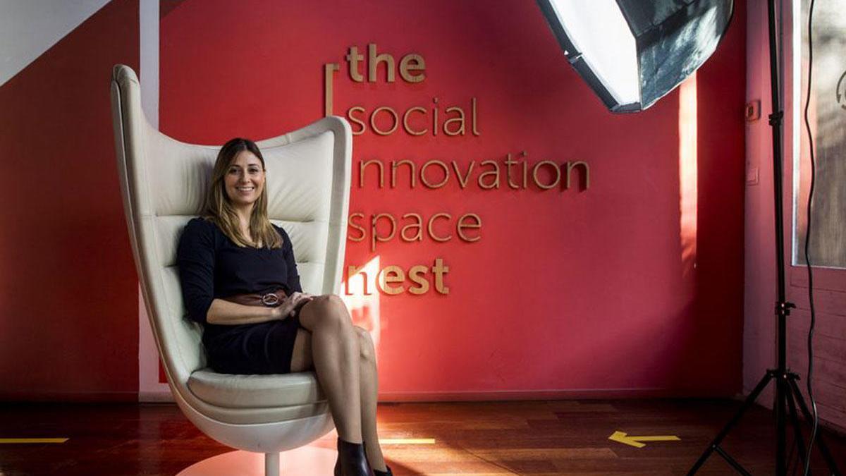 Margarita Albors, en una imagen captada en la fundación Social Nest.