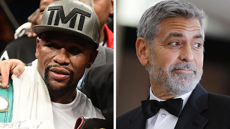 Mayweather i Clooney, els famosos millor pagats