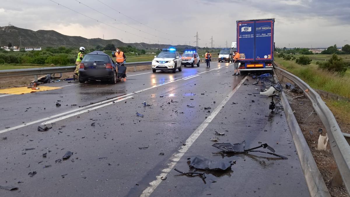 Accidente mortal en El Burgo de Ebro.