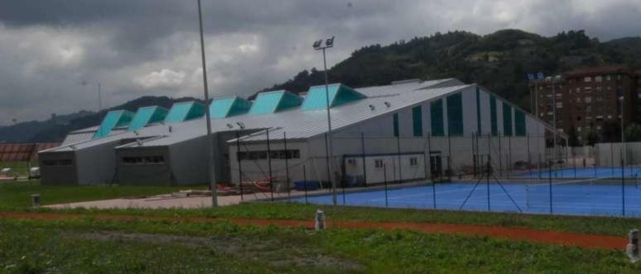 Las instalaciones deportivas del campus de Mieres.