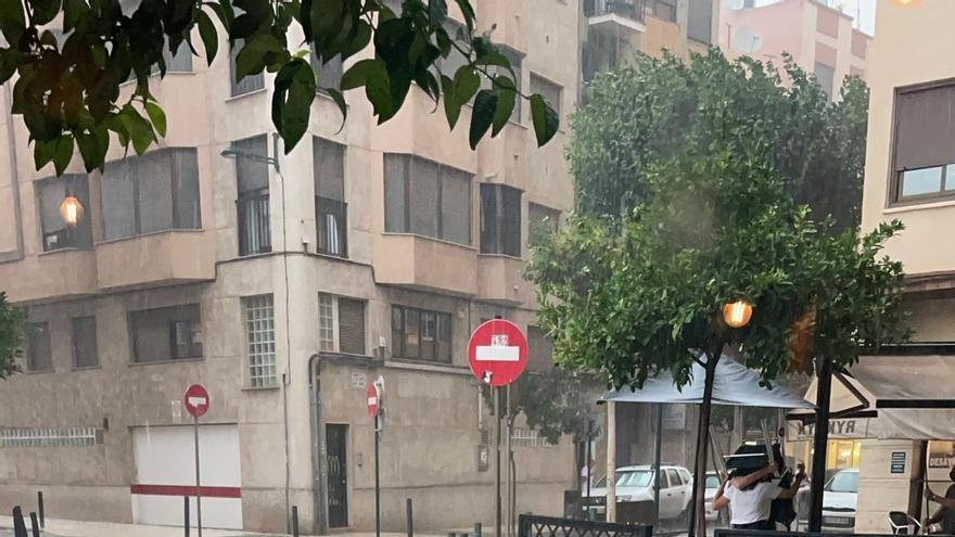 Las previsiones se cumplen: intensas tormentas con granizo en Castellón