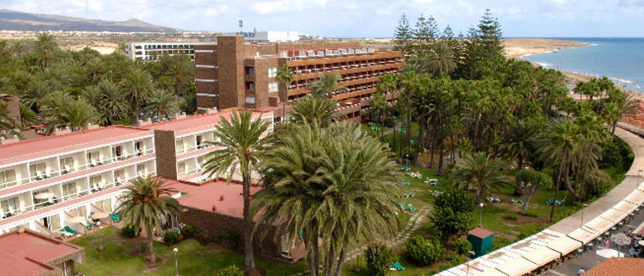 Vista general del hotel Oasis Maspalomas.