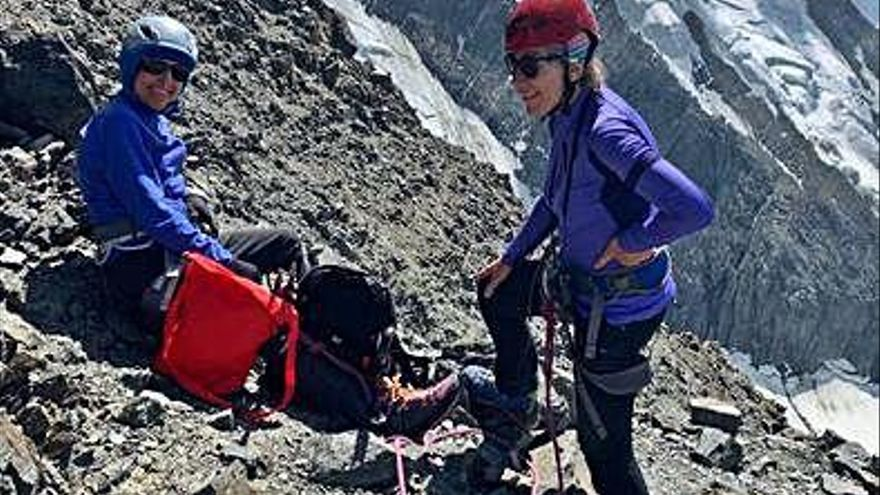La irlandesa Carolyne Boyle asciende el Mont Blanc