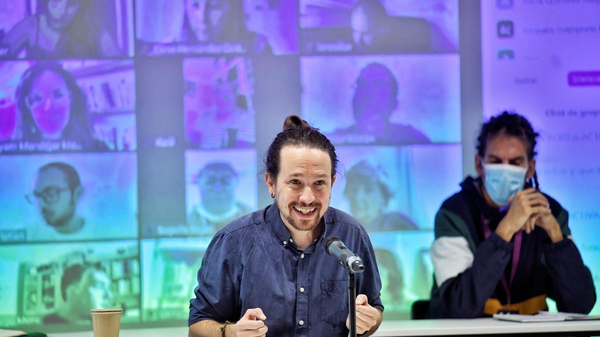 Pablo Iglesias, en un Consejo Ciudadano de Podemos.