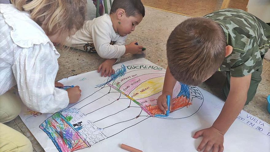 Los alumnos del colexu rural de Valdés conocen el mundu al estilu de Willy Fog