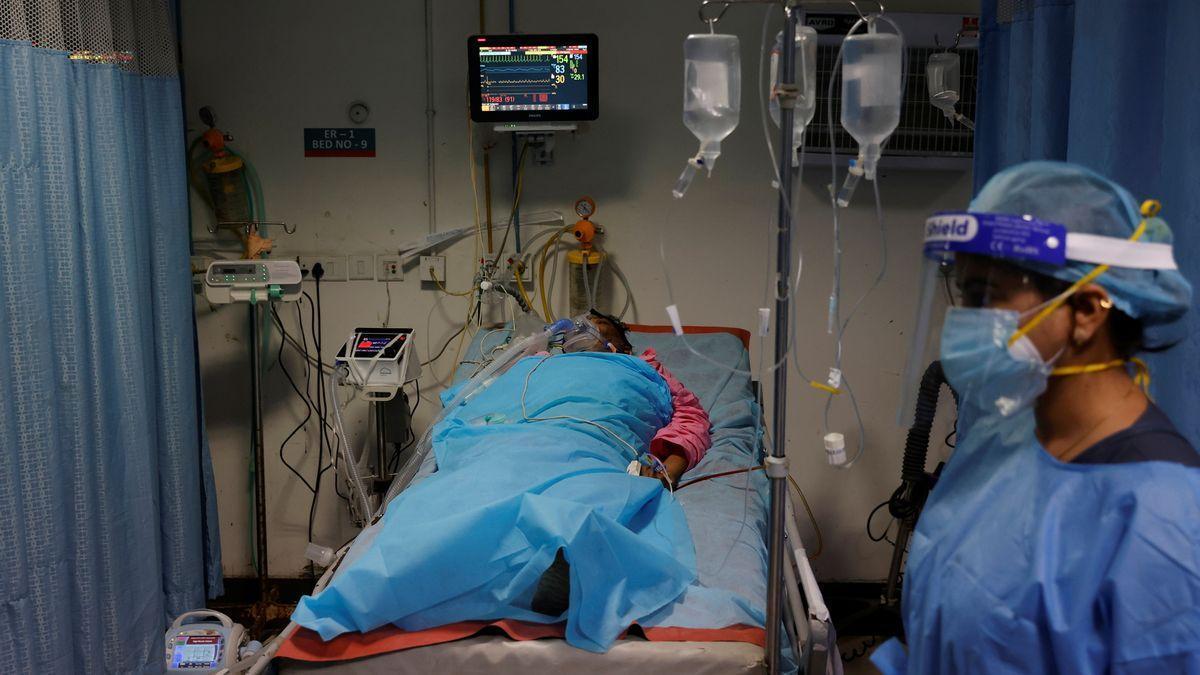 Un paciente afectado por covid-19.