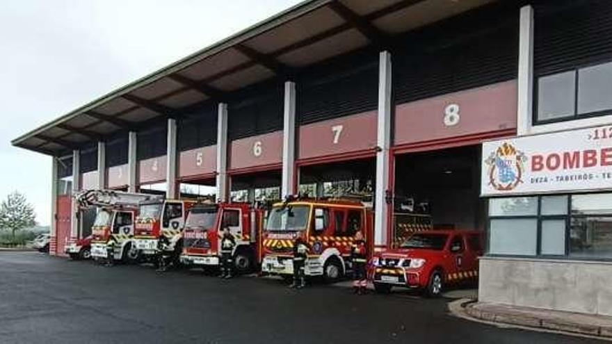 Homenaje de los bomberos de Silleda al fallecido de Arzúa