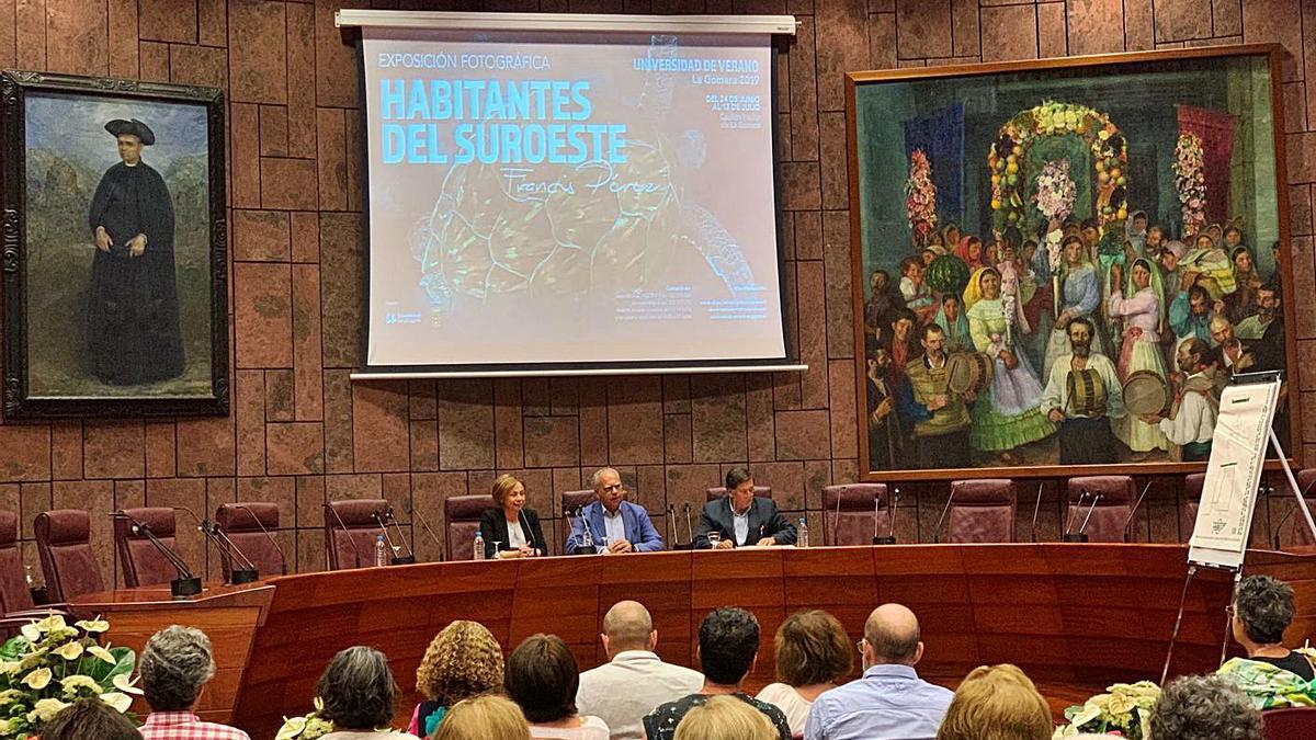Acto de apertura de la Universidad de Verano de La Gomera en 2019.