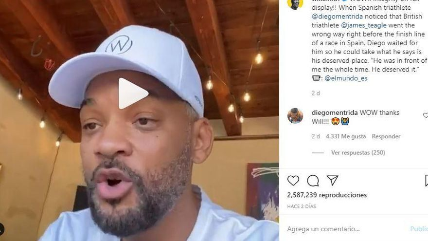 Will Smith s'emociona amb el gest esportiu de Diego Méntrida
