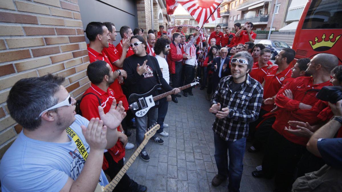 Gravació de l'himne del Girona.