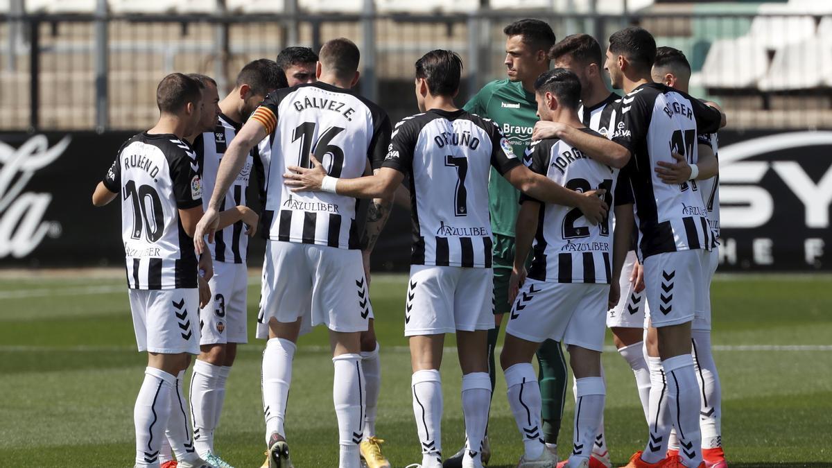 El once de los albinegros ante el Mallorca, con hasta ocho jugadores que pertenecían al Castellón el año pasado.
