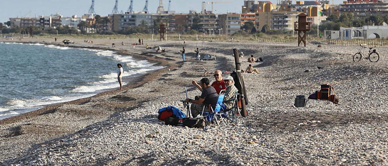Una vista de la playa de Corinto, ayer. | TORTAJADA