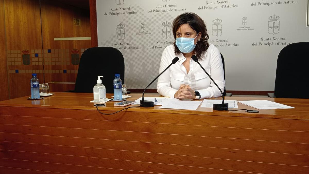 Beatriz Polledo, hoy en la Junta General