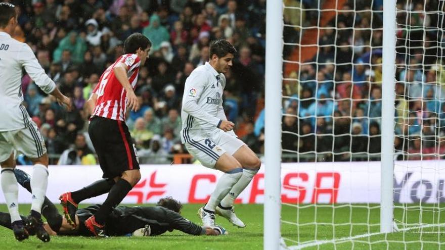 Morata retorna el liderat al Reial Madrid