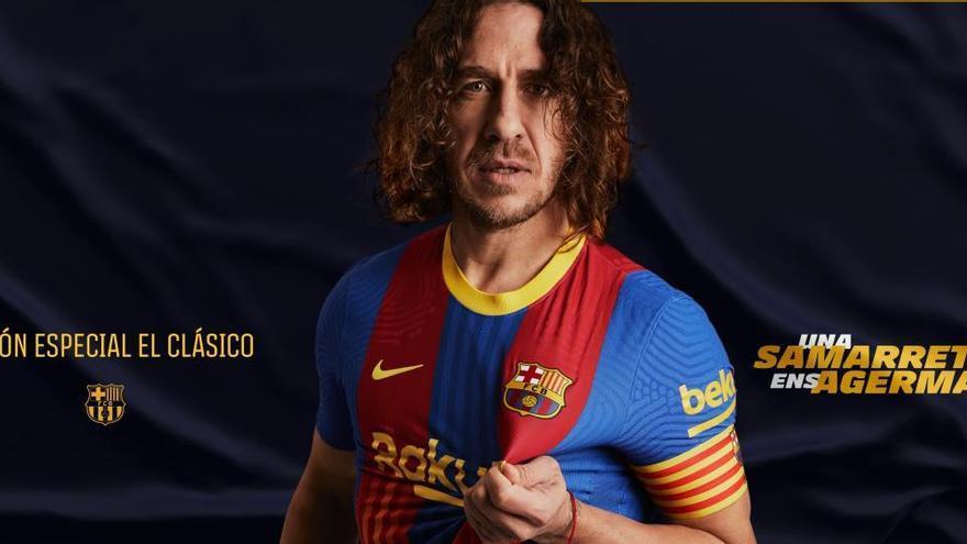 El Barça presenta su camiseta especial para el Clásico: mitad azulgrana, mitad 'senyera'