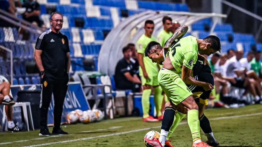 """JIM: """"Que yo sepa Narváez es jugador del Zaragoza, vamos a disfrutar de él mientras esté aquí"""""""