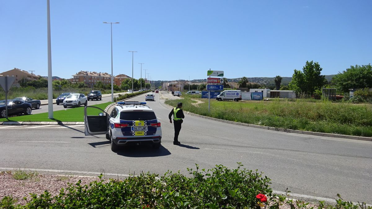 El control de velocidad en la carretera del Pla de Xàbia