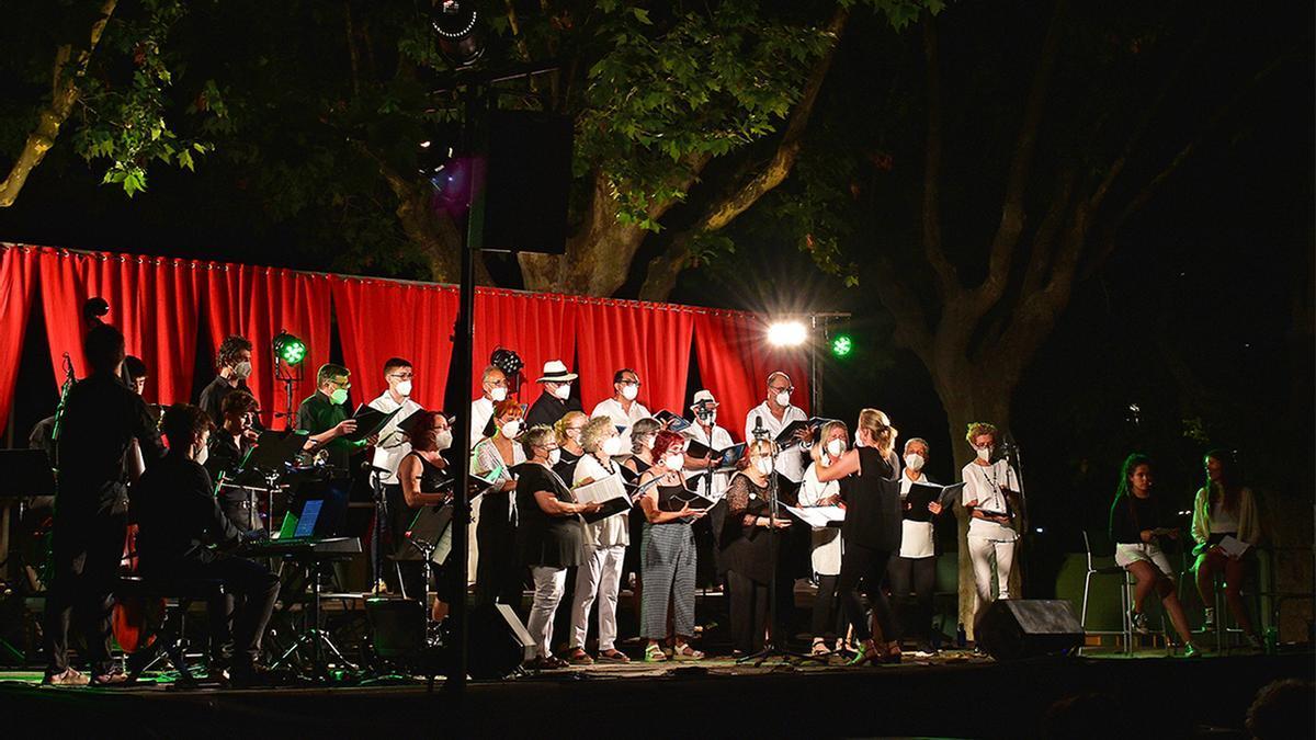Concert de la Coral Sòrissons de l'Escola Municipal de Música, dins dels actes de pròleg de la Festa Major