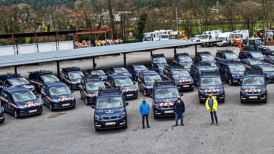 La Diputación renueva su parque móvil con 52 vehículos