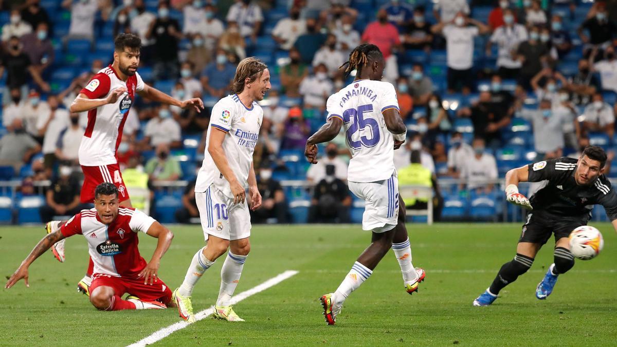 Las mejores imágenes del Real Madrid - Celta en el reestreno del Bernabéu