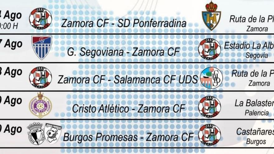El Zamora CF jugará cinco amistosos de pretemporada