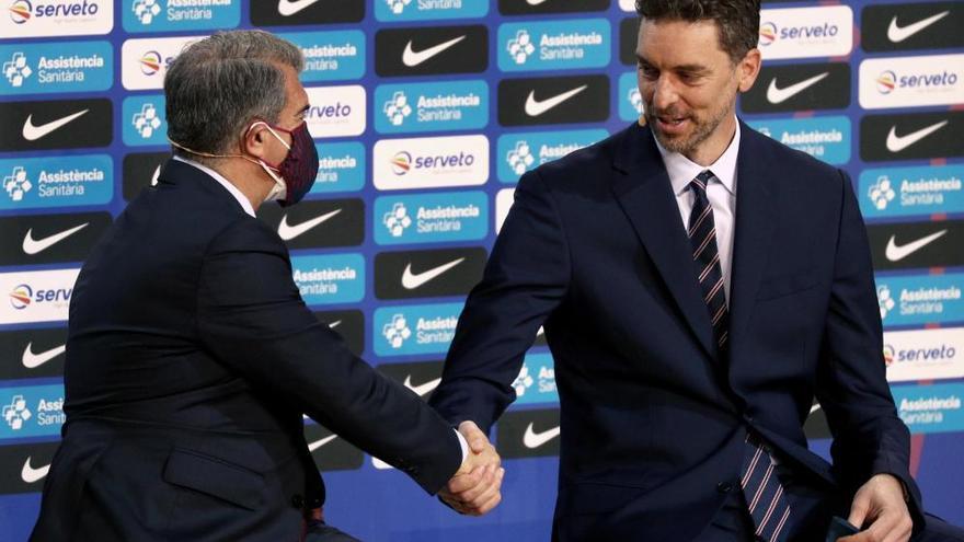 El Barça presenta Pau Gasol com a nou jugador