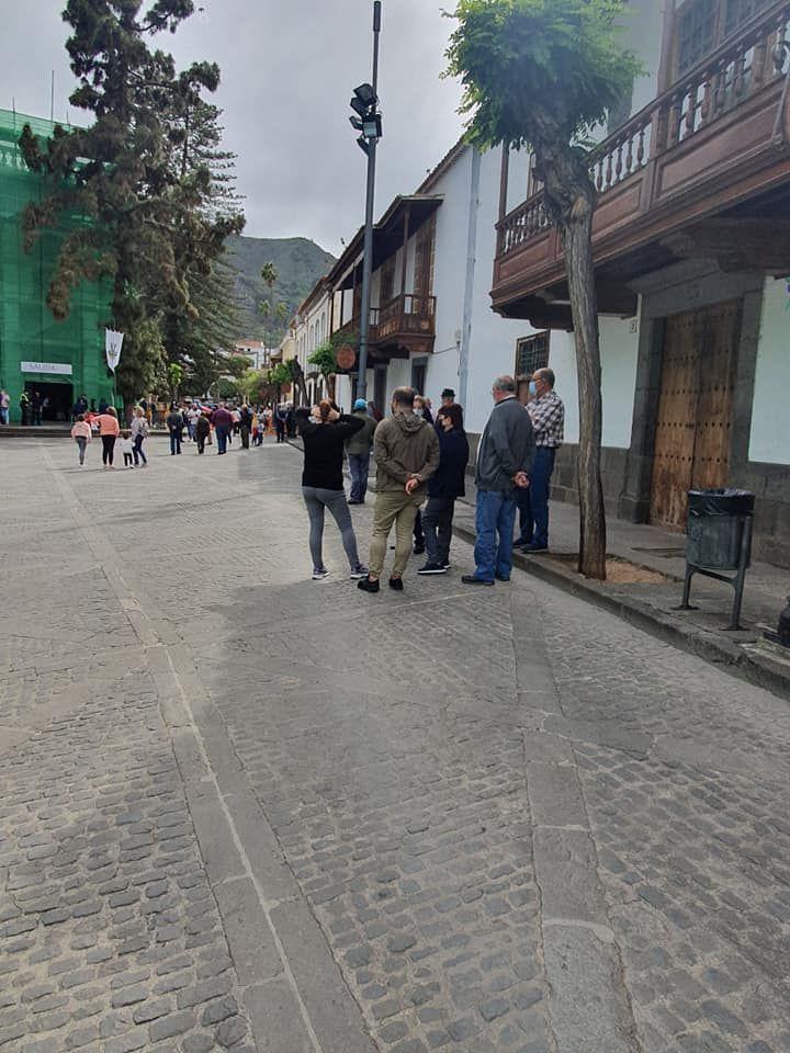 San Vicente procesiona en Teror
