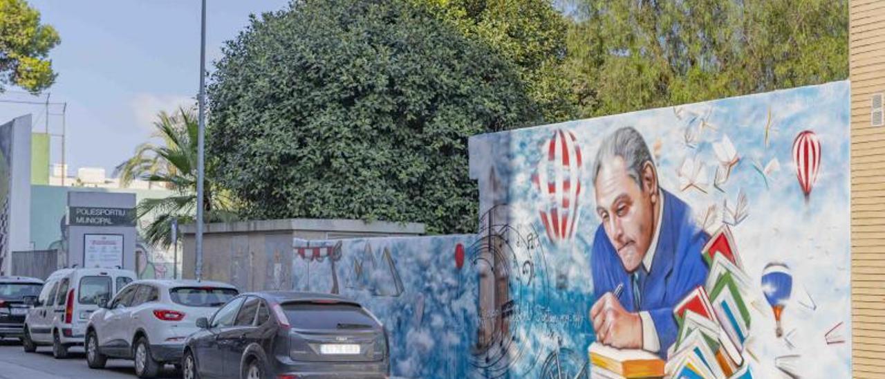 Mural dedicat a Josep Albert i Fortuny   A.P.