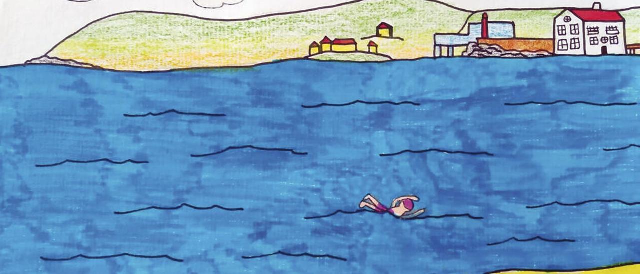 Reparto de premios en el concurso para dibujar el cartel de la Travesía Costa Serena