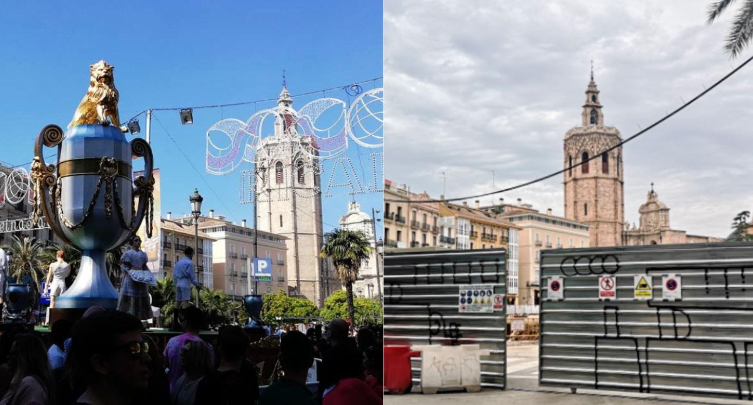 Fallas de Ciutat Vella afectadas por las obras del centro