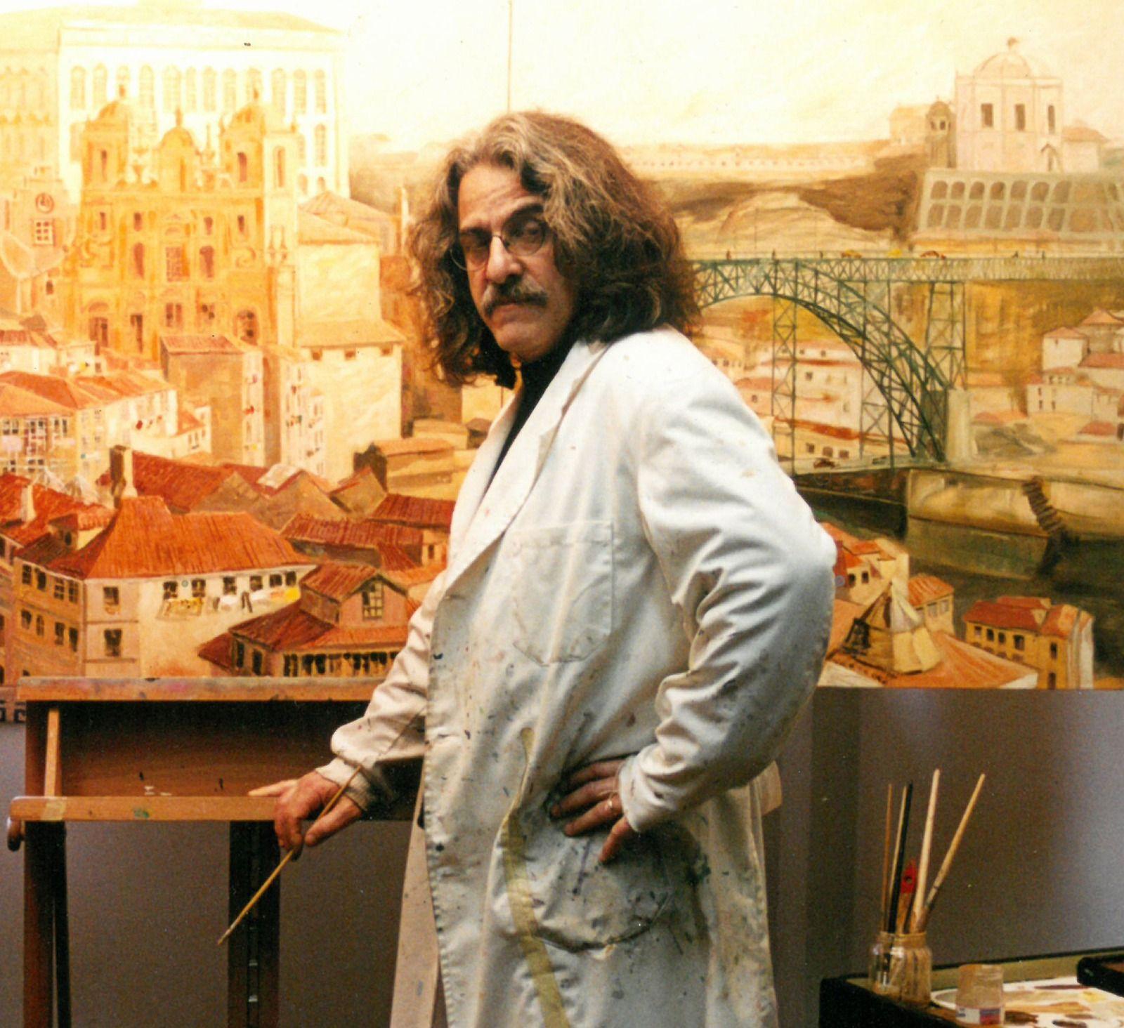 El pintor vigués Xavier Lemos