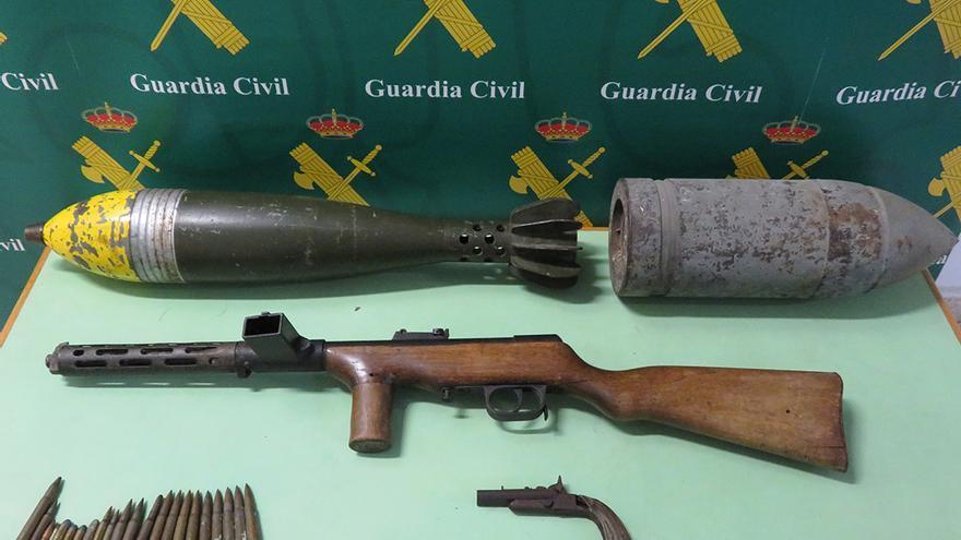 Estas son las armas de uso militar incautadas por la Guardia Civil