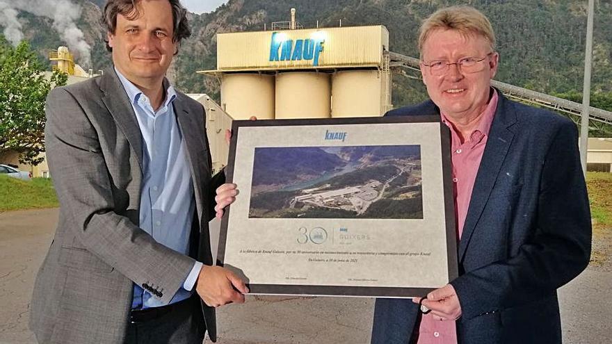 Knauf celebra 30 anys a Guixers amb la mirada fixada en el futur