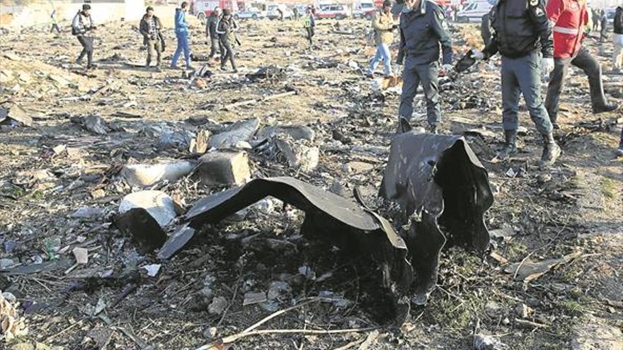 Irán reconoce que abatió por un error el avión con 176 personas