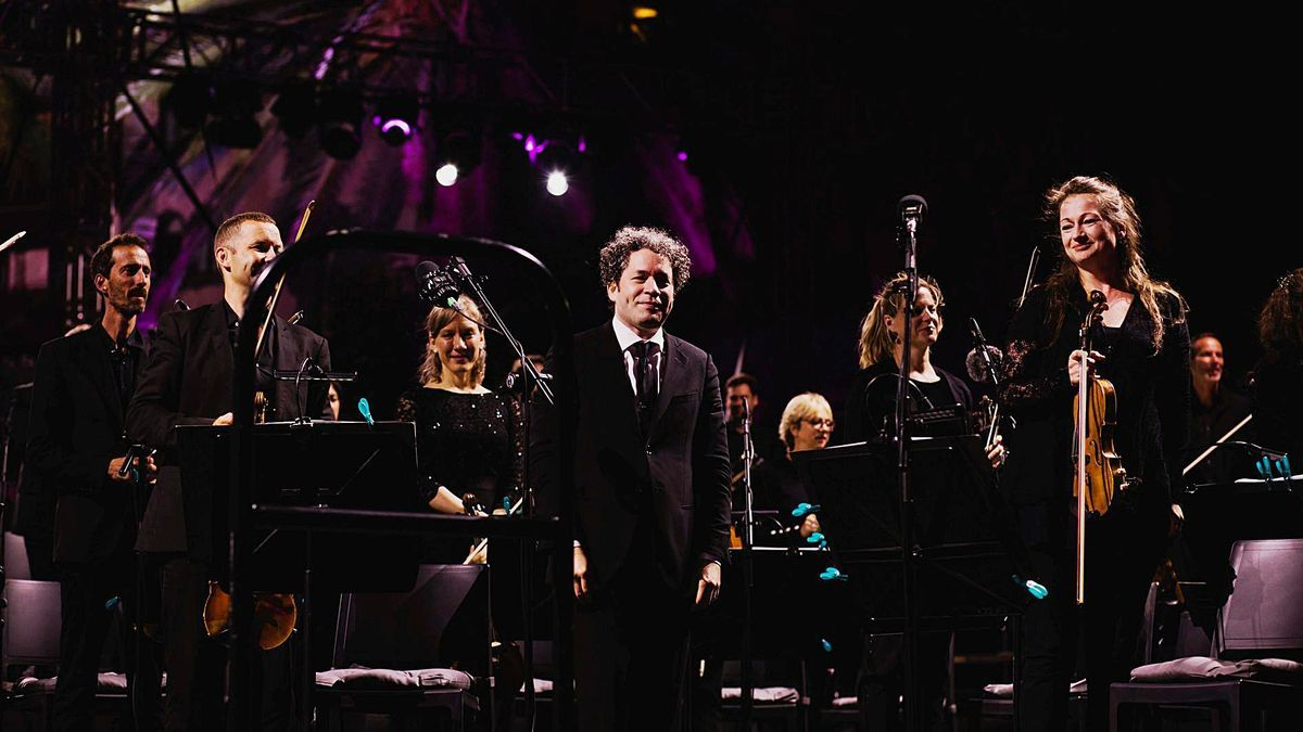 Gustavo Dudamel during his concert on Friday at the I Festival Santa Catalina Classics.        LP / DLP