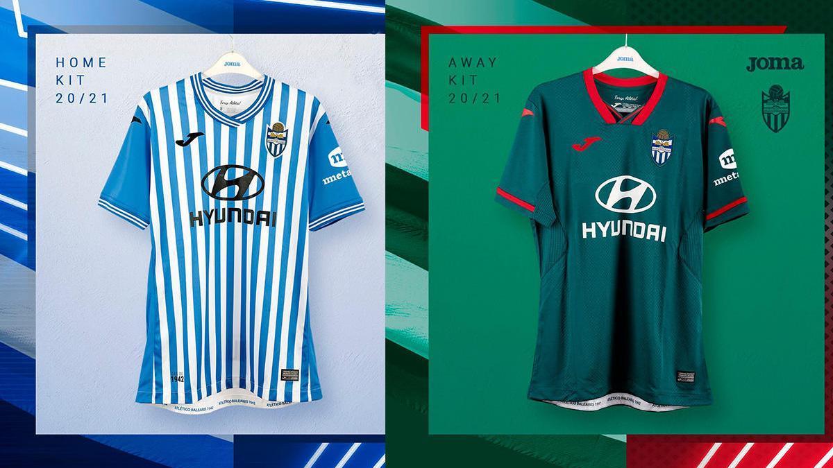 El Atlético Baleares añade rayas en su camiseta para la temporada 2020-21