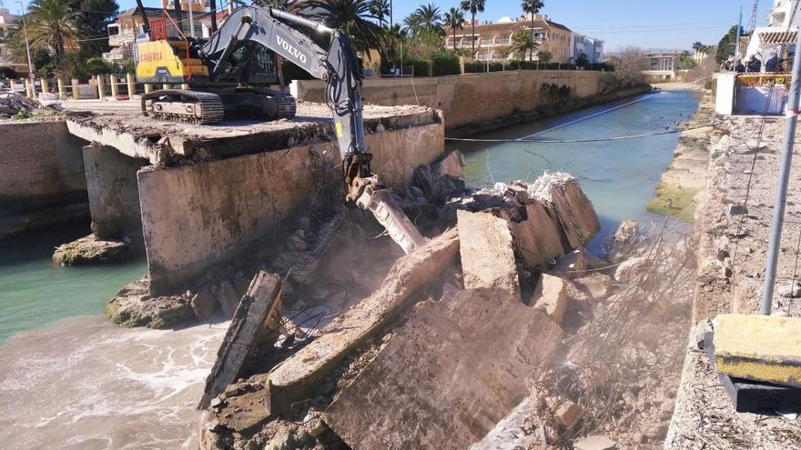 El puente de la desembocadura del Gorgos en Xàbia ya es historia