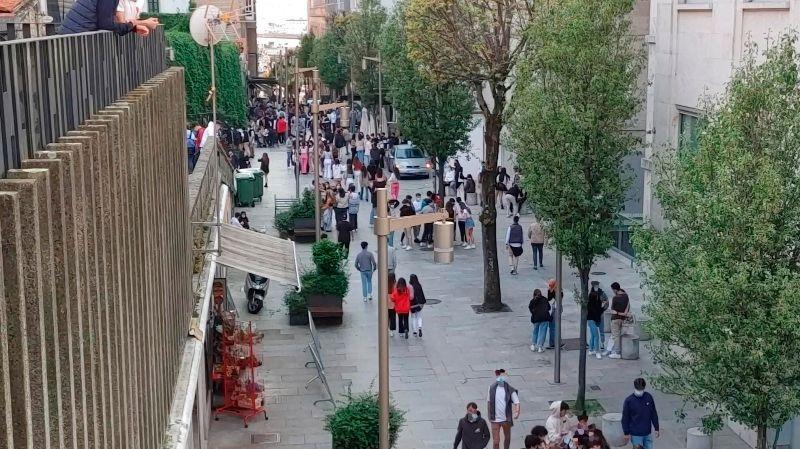 Las aglomeraciones vuelven al Casco Vello de Vigo