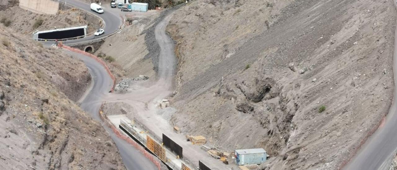 Vista de las obras en las cercanías del barrio de El Risco