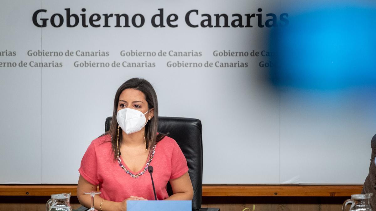 Yaiza Castilla da detalles sobre la presencia de Canarias en Fitur 2021.