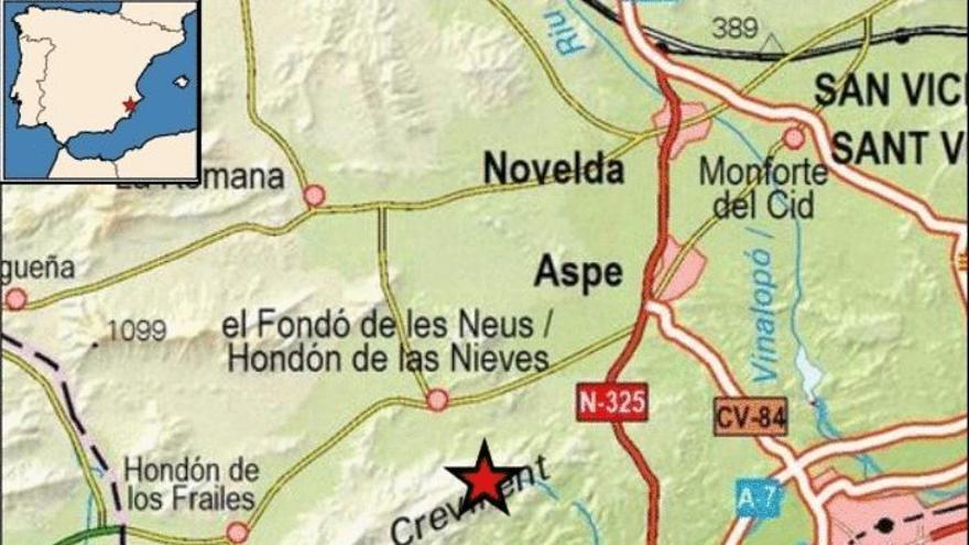 Hondón de las Nieves sufre un terremoto de 1,9 en la escala de Richter