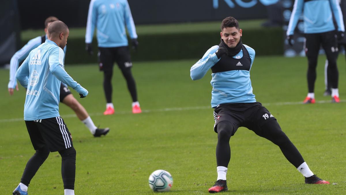 Gabriel Fernández, en un entrenamiento.
