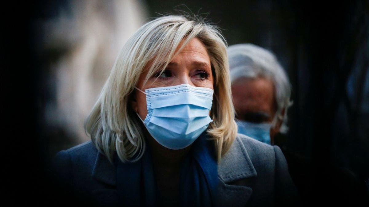 La líder del partido de extrema derecha francés, Marine Le Pen.