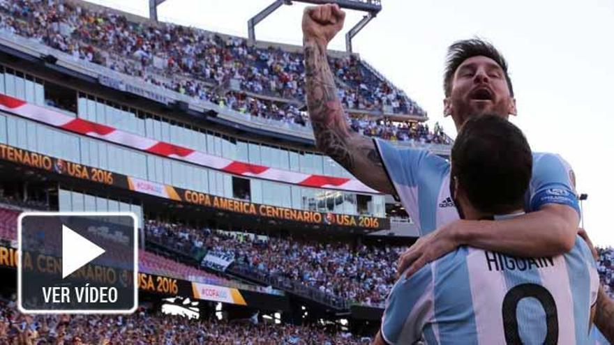 Messi e Higuaín liquidan a una errática Venezuela