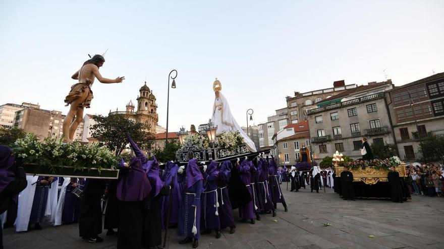 El Encuentro, epílogo a la Semana Santa de Pontevedra
