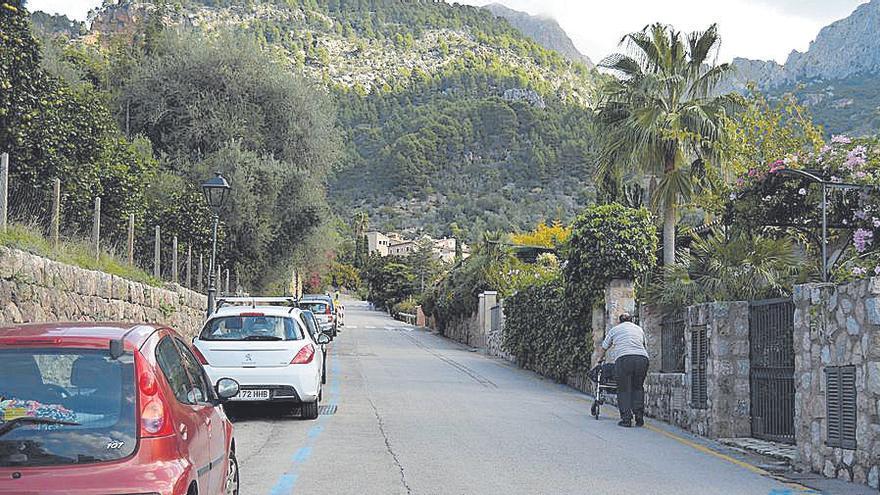 Constatan el peligro de un deslizamiento de tierras en la avenida Arbona Colom de Fornalutx